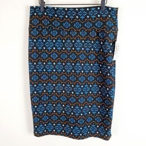 Lularoe Cassie Printed Pencil Skirt